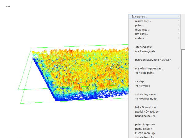 Canopy Height Model based on Airborne Laserscanning using